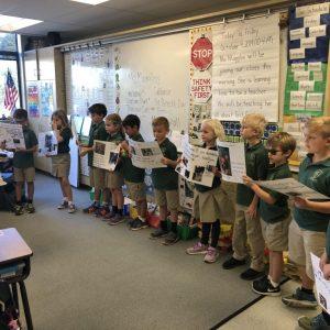 2nd grade service project classroom presentation