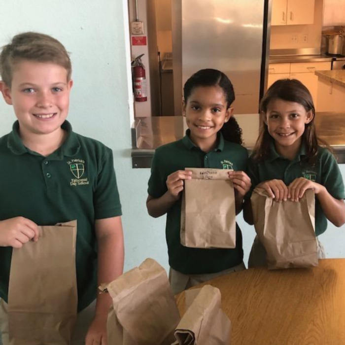 Students at Thousand Oaks Private School engage in community service.